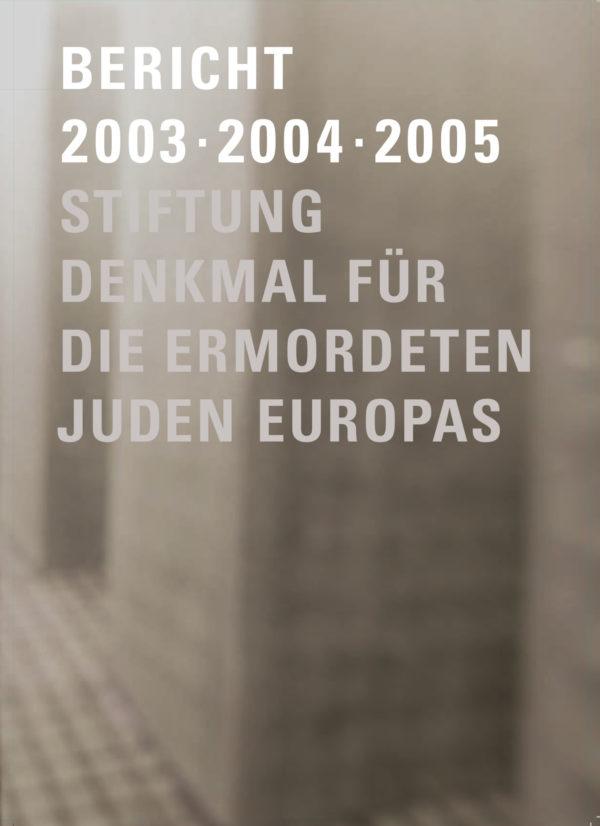 2003-2005 Bericht Cover