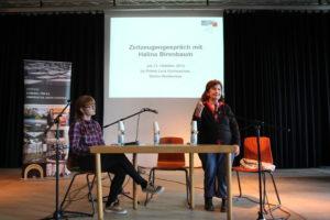 Halina Birenbaum im Primo Levy Gymnasium, Foto Stiftung Denkmal