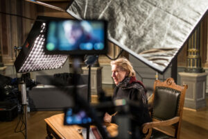 20.10.20 Making Off Vorlesetag mit Dagmar Manzel, Foto Marko Priske