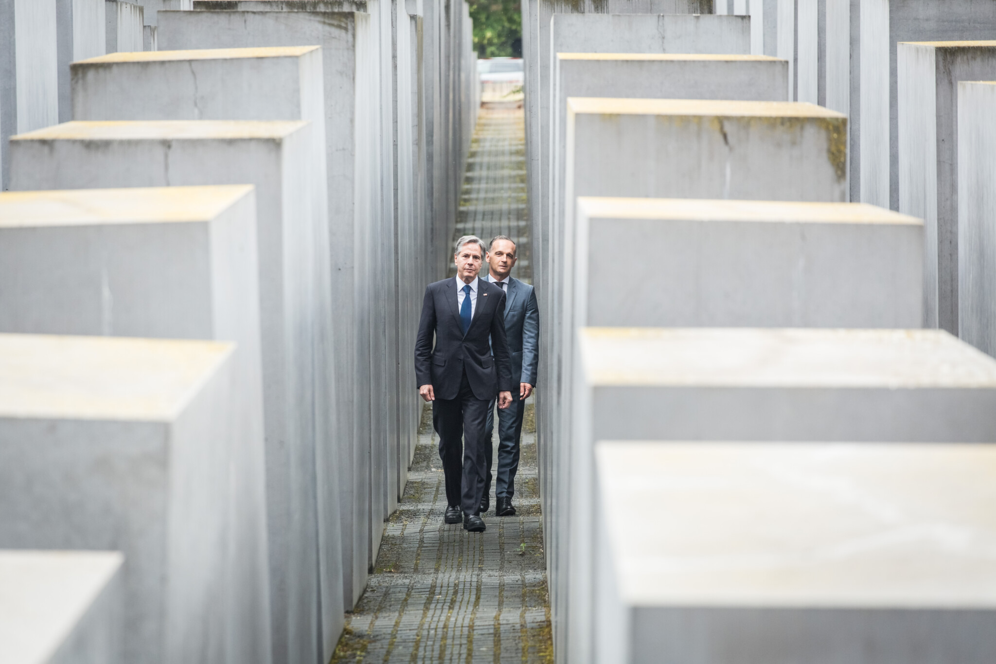 US Secretary of State Antony J. Blinken and Federal Foreign Minister Heiko Maas visit the Holocaust Memorial