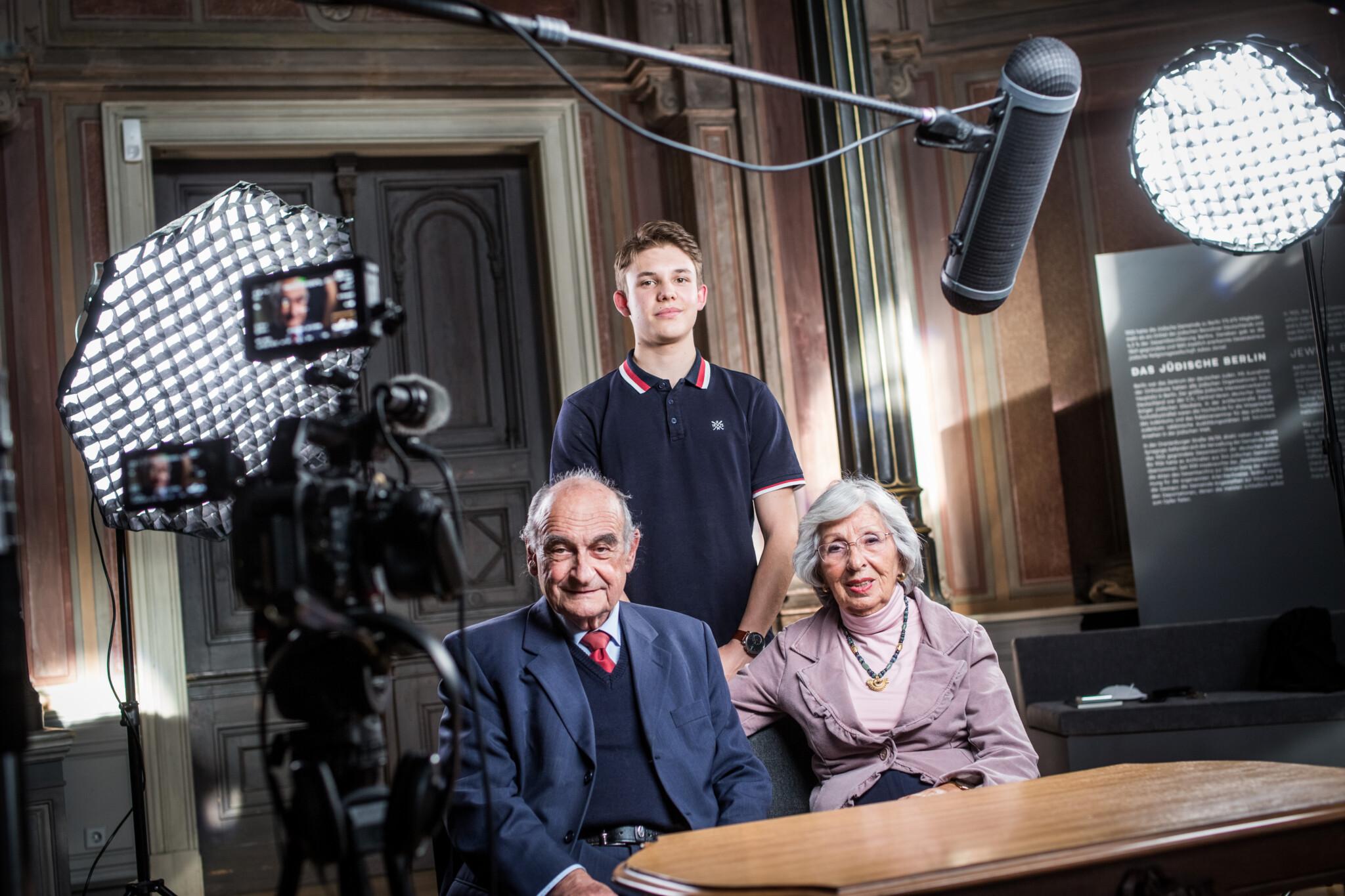 Filmaufnahmen mit Petra und Franz Michalski