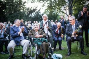 Gedenken am Sinti und Roma Denkmal am 2. August 2021 © Stiftung Denkmal, Foto Marko Priske (116)