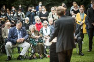 Gedenken am Sinti und Roma Denkmal am 2. August 2021 © Stiftung Denkmal, Foto Marko Priske (34)