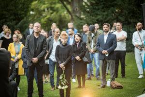 Gedenken am Sinti und Roma Denkmal am 2. August 2021 © Stiftung Denkmal, Foto Marko Priske (36)