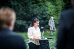 Gedenken am Sinti und Roma Denkmal am 2. August 2021 © Stiftung Denkmal, Foto Marko Priske (50)