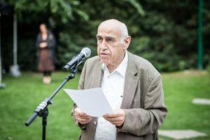 Gedenken am Sinti und Roma Denkmal am 2. August 2021 © Stiftung Denkmal, Foto Marko Priske (57)