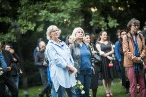 Gedenken am Sinti und Roma Denkmal am 2. August 2021 © Stiftung Denkmal, Foto Marko Priske (80)