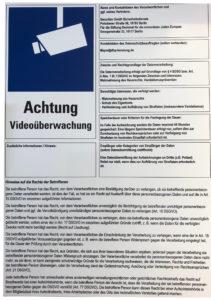 Schild Videokamera