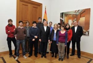Bundespräsident Horst Köhler trifft engegaierte Jugendliche