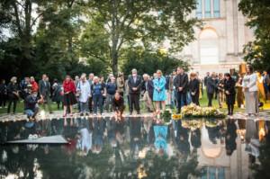 Gedenken am Sinti und Roma Denkmal am 2. August 2021 © Stiftung Denkmal, Foto Marko Priske (124)